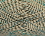 Fiber Content 100% Mercerised Cotton, Turquoise, Brand ICE, Blue, Beige, Yarn Thickness 2 Fine  Sport, Baby, fnt2-49622
