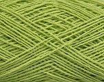 Fiber indhold 67% Bomuld, 33% Polyester, Brand Ice Yarns, Green, Yarn Thickness 2 Fine  Sport, Baby, fnt2-49628