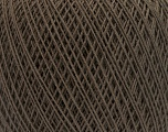 Fiber Content 67% Cotton, 33% Polyester, Brand ICE, Dark Brown, Yarn Thickness 1 SuperFine  Sock, Fingering, Baby, fnt2-49694