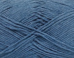 Please note that the yarn weight and the ball length may vary from one color to another for this yarn. Fiber Content 100% Cotton, Jeans Blue, Brand ICE, Yarn Thickness 3 Light  DK, Light, Worsted, fnt2-49959