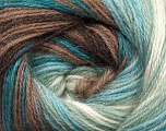 Fiber Content 60% Premium Acrylic, 20% Wool, 20% Mohair, White, Turquoise, Mint Green, Brand ICE, Brown, Yarn Thickness 2 Fine  Sport, Baby, fnt2-50297