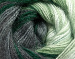 Fiber Content 60% Premium Acrylic, 20% Mohair, 20% Wool, White, Brand ICE, Grey Shades, Green Shades, Yarn Thickness 2 Fine  Sport, Baby, fnt2-50298