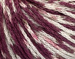 Fiber indhold 100% Akryl, White, Maroon, Brand Ice Yarns, Yarn Thickness 3 Light  DK, Light, Worsted, fnt2-50788
