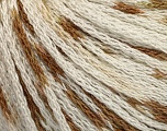 Fiber Content 100% Acrylic, White, Brand ICE, Brown, Yarn Thickness 3 Light  DK, Light, Worsted, fnt2-50800