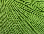 Fiber Content 60% Cotton, 40% Acrylic, Brand ICE, Green, Yarn Thickness 2 Fine  Sport, Baby, fnt2-51209