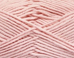 Fiber Content 55% Cotton, 45% Acrylic, Brand ICE, Baby Pink, Yarn Thickness 4 Medium  Worsted, Afghan, Aran, fnt2-51433