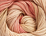 Fiber Content 100% Cotton, Pink Shades, Brand Ice Yarns, Cream, Yarn Thickness 2 Fine  Sport, Baby, fnt2-51440