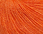 Fiber Content 65% Merino Wool, 35% Silk, Orange, Brand ICE, Yarn Thickness 1 SuperFine  Sock, Fingering, Baby, fnt2-51507