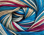 Fiber Content 100% Cotton, White, Turquoise Shades, Brand ICE, Fuchsia, Cream, Yarn Thickness 2 Fine  Sport, Baby, fnt2-51519