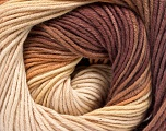 Fiber Content 100% Cotton, Brand ICE, Cream, Brown Shades, Yarn Thickness 2 Fine  Sport, Baby, fnt2-51539