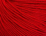 Fiber Content 60% Cotton, 40% Acrylic, Red, Brand ICE, Yarn Thickness 2 Fine  Sport, Baby, fnt2-51560