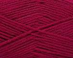 Fiber Content 100% Acrylic, Brand ICE, Burgundy, Yarn Thickness 3 Light  DK, Light, Worsted, fnt2-52090