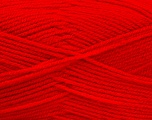 Fiber Content 100% Acrylic, Red, Brand ICE, Yarn Thickness 3 Light  DK, Light, Worsted, fnt2-52092