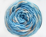 Fiber Content 80% Acrylic, 20% Polyamide, White, Light Blue, Brand ICE, Camel, Yarn Thickness 4 Medium  Worsted, Afghan, Aran, fnt2-53212