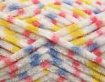 Fiber Content 100% Micro Fiber, Yellow, White, Pink, Lilac, Brand ICE, Yarn Thickness 4 Medium  Worsted, Afghan, Aran, fnt2-53695