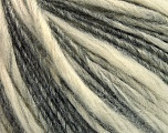 Fiber Content 60% Acrylic, 40% Wool, Brand ICE, Grey, Cream, Yarn Thickness 3 Light  DK, Light, Worsted, fnt2-53817