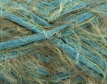 Fiber Content 70% Micro Fiber, 30% Polyamide, Turquoise, Khaki, Brand ICE, Yarn Thickness 5 Bulky  Chunky, Craft, Rug, fnt2-54444
