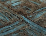 Fiber Content 70% Micro Fiber, 30% Polyamide, Turquoise, Brand ICE, Brown, Yarn Thickness 5 Bulky  Chunky, Craft, Rug, fnt2-54446