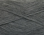 Very thin yarn. It is spinned as two threads. So you will knit as two threads. Yardage information is for only one strand. Fiber Content 100% Acrylic, Brand Ice Yarns, Grey, Yarn Thickness 1 SuperFine  Sock, Fingering, Baby, fnt2-54679