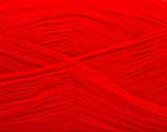 Very thin yarn. It is spinned as two threads. So you will knit as two threads. Yardage information is for only one strand. Fiber Content 100% Acrylic, Red, Brand ICE, Yarn Thickness 1 SuperFine  Sock, Fingering, Baby, fnt2-54708