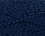 Very thin yarn. It is spinned as two threads. So you will knit as two threads. Yardage information is for only one strand. Fiber Content 100% Acrylic, Brand ICE, Dark Navy, Yarn Thickness 1 SuperFine  Sock, Fingering, Baby, fnt2-54716