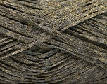 Fiber Content 82% Viscose, 18% Polyester, Brand ICE, Grey, Gold, Yarn Thickness 4 Medium  Worsted, Afghan, Aran, fnt2-54961