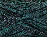 Fiber Content 82% Viscose, 18% Polyester, Brand ICE, Emerald Green, Black, Yarn Thickness 5 Bulky  Chunky, Craft, Rug, fnt2-55007