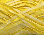 Fiber Content 82% Viscose, 18% Polyester, Yellow, White, Brand ICE, Yarn Thickness 5 Bulky  Chunky, Craft, Rug, fnt2-55017