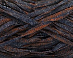 Fiber Content 82% Viscose, 18% Polyester, Brand ICE, Dark Navy, Copper, Yarn Thickness 5 Bulky  Chunky, Craft, Rug, fnt2-55025