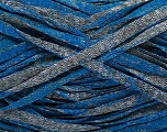 Fiber Content 82% Viscose, 18% Polyester, Brand ICE, Grey, Blue, Yarn Thickness 5 Bulky  Chunky, Craft, Rug, fnt2-55027