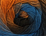 Fiber Content 50% Acrylic, 50% Wool, Brand ICE, Gold, Brown Shades, Blue, Yarn Thickness 2 Fine  Sport, Baby, fnt2-55353