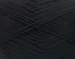Fiber Content 75% Superwash Wool, 25% Polyamide, Brand ICE, Black, Yarn Thickness 1 SuperFine  Sock, Fingering, Baby, fnt2-55464