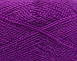 Fiber Content 75% Superwash Wool, 25% Polyamide, Purple, Brand ICE, Yarn Thickness 1 SuperFine  Sock, Fingering, Baby, fnt2-55474