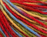 Fiber Content 50% Acrylic, 30% Wool, 20% Polyamide, Yellow, Red, Brand ICE, Green, Blue, fnt2-55592
