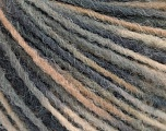 Fiber Content 100% Acrylic, Brand ICE, Grey Shades, Cream, Yarn Thickness 3 Light  DK, Light, Worsted, fnt2-55605