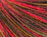 Fiber Content 100% Acrylic, Neon Pink, Maroon, Brand ICE, Green Shades, Yarn Thickness 3 Light  DK, Light, Worsted, fnt2-55608