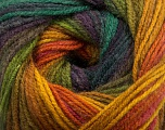 Fiber Content 100% Acrylic, Yellow, Purple Shades, Pink, Brand ICE, Green Shades, Yarn Thickness 3 Light  DK, Light, Worsted, fnt2-55956