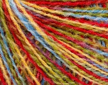 Fiber Content 50% Wool, 50% Acrylic, Yellow, Red, Brand ICE, Green, Blue, fnt2-55991