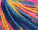Fiber Content 90% Acrylic, 10% Polyamide, Yellow, Pink, Brand ICE, Blue Shades, Yarn Thickness 4 Medium  Worsted, Afghan, Aran, fnt2-56048
