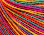 Fiber Content 50% Acrylic, 50% Wool, Rainbow, Brand ICE, Yarn Thickness 3 Light  DK, Light, Worsted, fnt2-56212