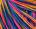 Fiber Content 50% Acrylic, 50% Wool, Yellow, Pink, Brand ICE, Blue Shades, Yarn Thickness 3 Light  DK, Light, Worsted, fnt2-56214
