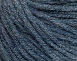 Fiber Content 50% Wool, 50% Acrylic, Jeans Blue, Brand ICE, Yarn Thickness 4 Medium  Worsted, Afghan, Aran, fnt2-56743