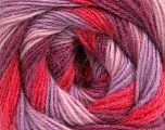 Fiber Content 60% Acrylic, 20% Wool, 20% Angora, Salmon, Pink, Orchid, Lilac, Brand ICE, Yarn Thickness 2 Fine  Sport, Baby, fnt2-56859