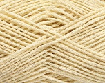 natural yarn  Fiber Content 40% Extrafine Merino Wool, 30% Linen, 30% Silk, Brand ICE, Cream, fnt2-56948