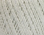 Fiber Content 85% Viscose, 25% Metallic Lurex, White, Silver, Brand ICE, Yarn Thickness 3 Light  DK, Light, Worsted, fnt2-57031