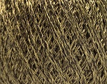 Fiber Content 85% Viscose, 25% Metallic Lurex, Light Olive Green, Brand ICE, Brown, Yarn Thickness 3 Light  DK, Light, Worsted, fnt2-57037