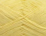 Please note that the yarn weight and the ball length may vary from one color to another for this yarn. Fiber Content 100% Cotton, Light Yellow, Brand ICE, Yarn Thickness 3 Light  DK, Light, Worsted, fnt2-57163