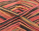Fiber Content 100% Acrylic, Yellow, Salmon, Brand ICE, Anthracite Black, Yarn Thickness 2 Fine  Sport, Baby, fnt2-57350