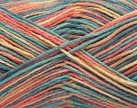 Fiber Content 100% Acrylic, Yellow, Salmon, Mint Green, Jeans Blue, Brand ICE, Yarn Thickness 2 Fine  Sport, Baby, fnt2-57354