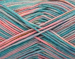 Fiber Content 100% Acrylic, Turquoise, Pink, Lilac, Brand ICE, Blue, Yarn Thickness 2 Fine  Sport, Baby, fnt2-57369